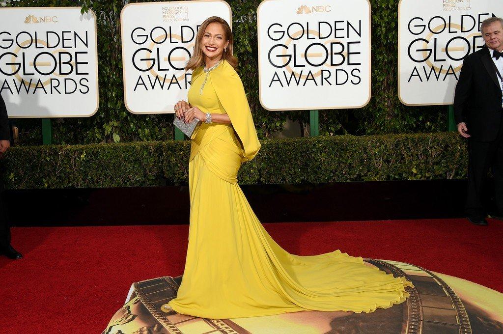 Дженнифер Лопес на премии вручения Золотого глобуса 2016