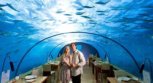 Полина Гагарина с семьей посетили необычный ресторан на Мальдивах