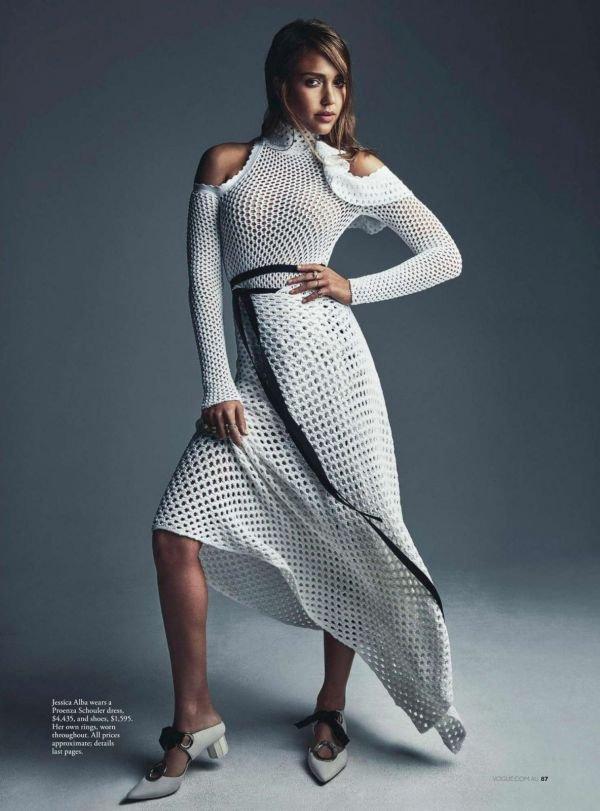 Джессика Альба украсила обложку Vogue (Австралия)