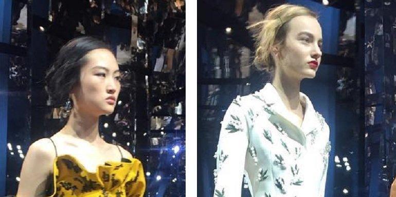 Презентация новой коллекции Диор на неделе высокой моды в Париже