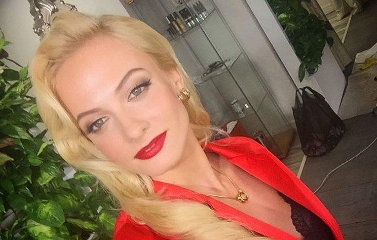 Актриса Полина Максимова на юбилее компании Бакарди