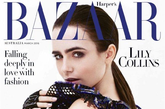 Лили Коллинз в фотосессии для Harper's Bazaar