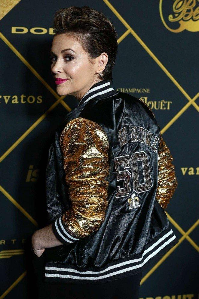 Сногсшибательный образ Алисы Милано на вечеринке журнала Maxim