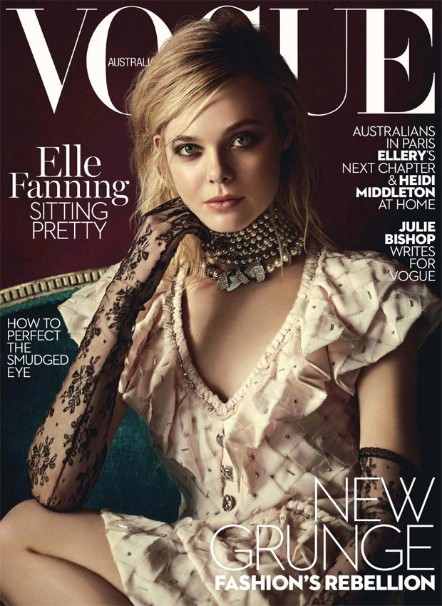 Элль Фаннинг украсила обложку мартовского Vogue Australia