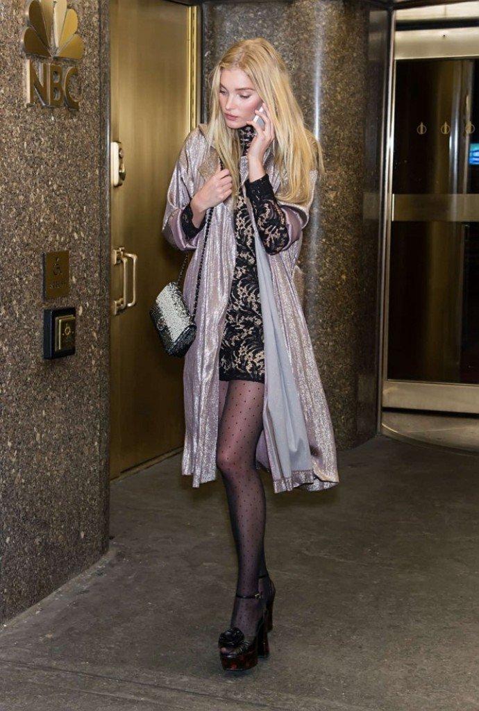 Эльза Хоск в коротком патье и на высоких каблуках покорила фотографов