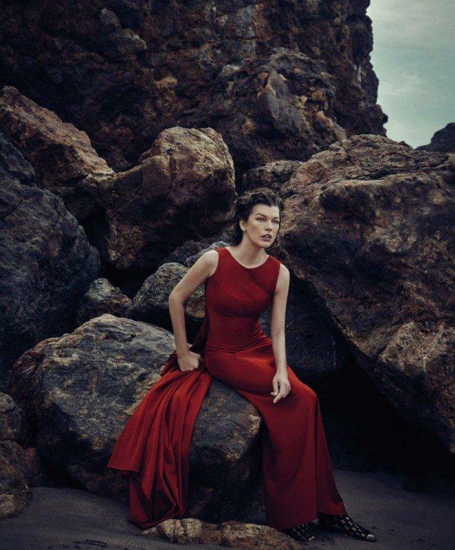 Загадочная Милла Йовович позирует для Harpers Bazaar Spain