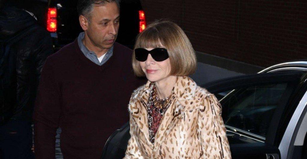 Анна Винтур пришла на модный показ вся в леопардовом