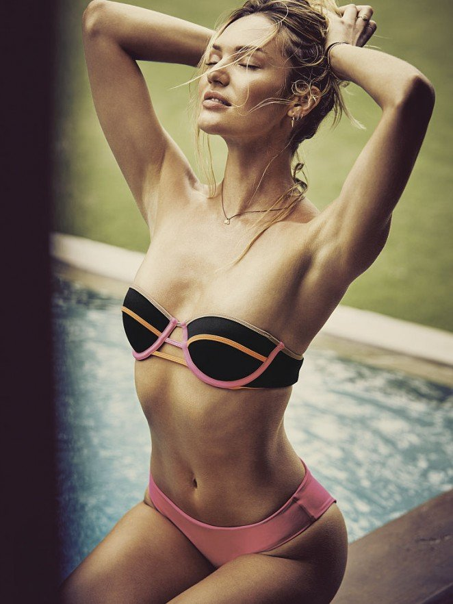 Кэндис Свейнпол представила новую коллекцию бикини Victoria's Secret
