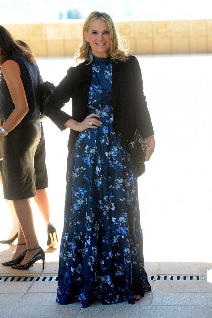 Молли Симс одела шикарное платье в пол