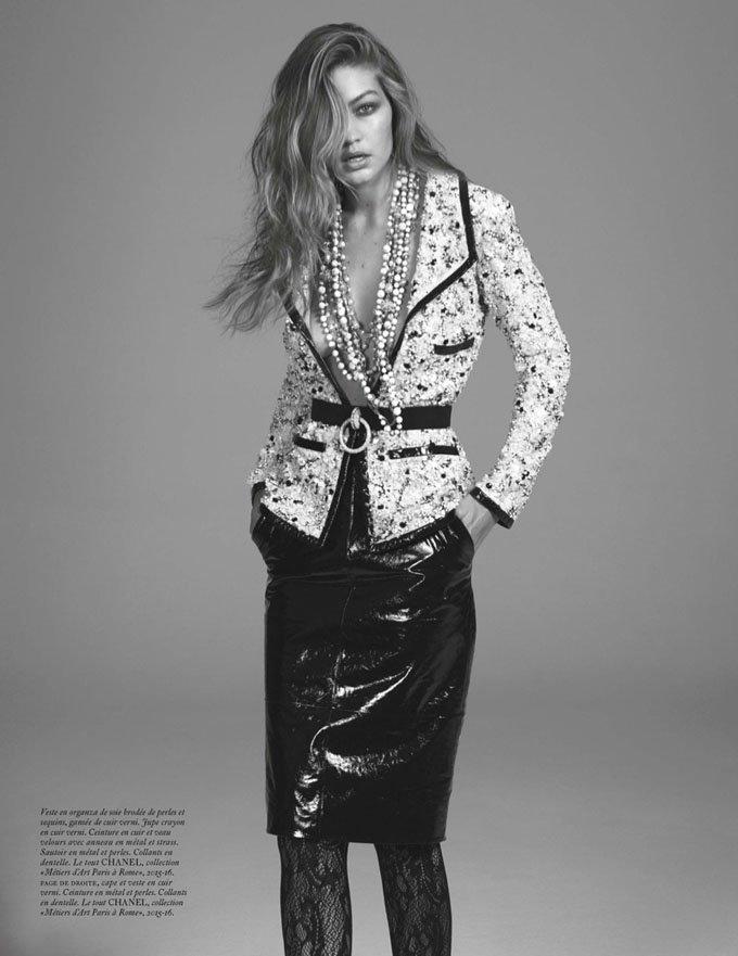 Джиджи Хадид в ретро образе снялась для Vogue Paris