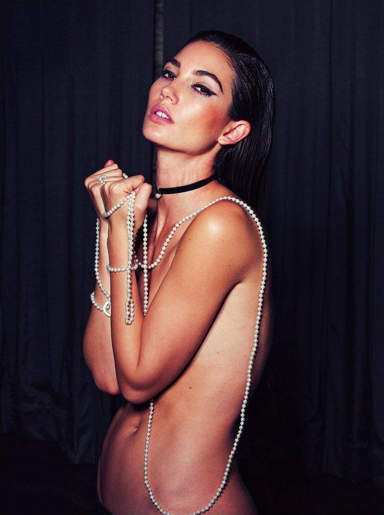 Лили Олдридж снялась в откровенной фотосессии для Lui Magazine