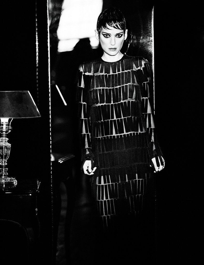 Вайнона Райдер позирует в образе роковой красотки для Interview