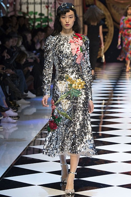 Блестящая коллекция Dolce & Gabbana представлена на Неделе моды в Милане
