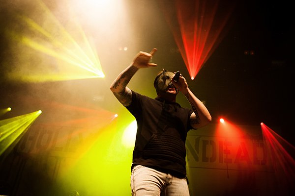 Американские рэп-корщики «Hollywood Undead» выступили в Москве