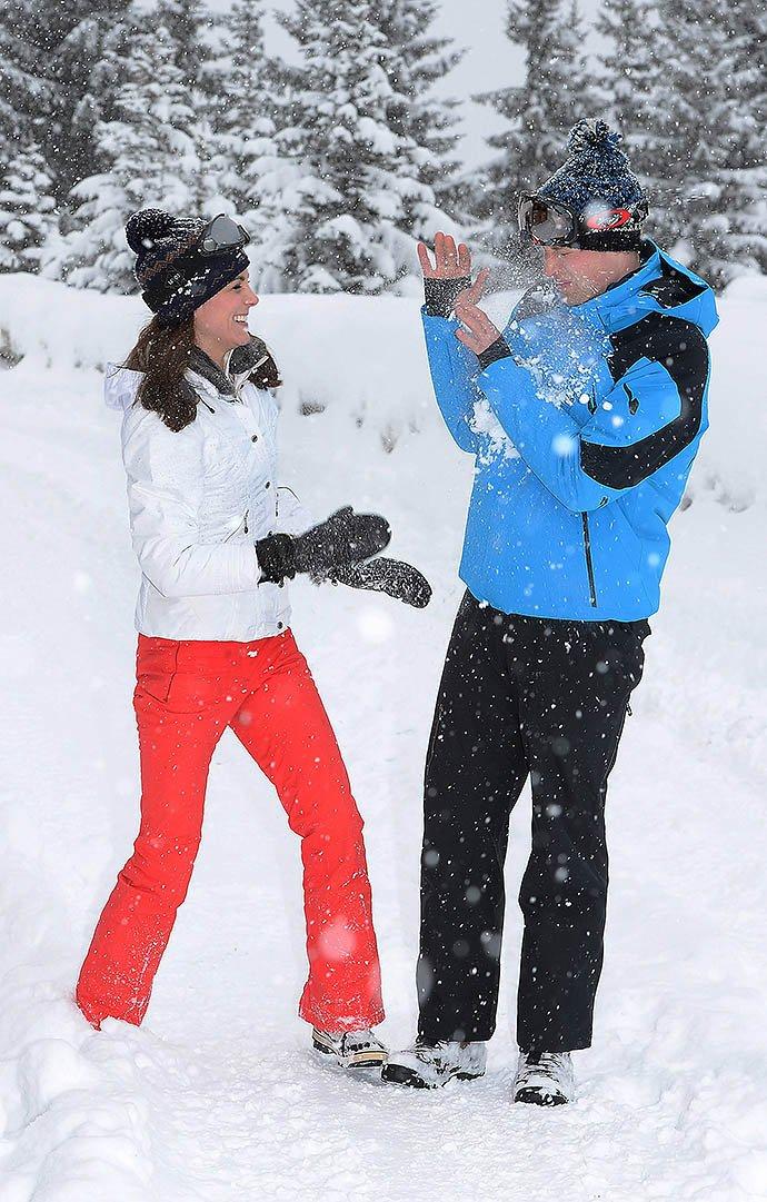 Кейт Миддлтон и принц Уильям с детьми отдохнули во Французских Альпах