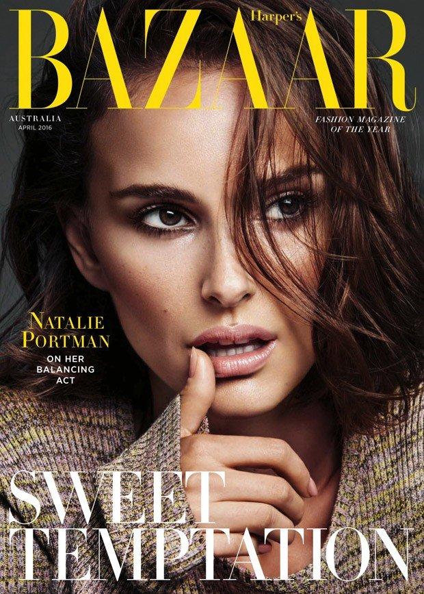 Натали Портман украсила обложку австралийского Harper's Bazaar