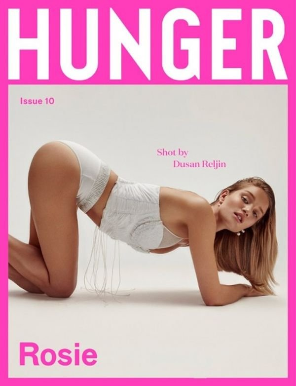 Загадочная Рози Хантингтон-Уайтли украсила страницы Hunger Magazine