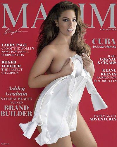 Эшли Грэм впервые появилась на обложке MAXIM