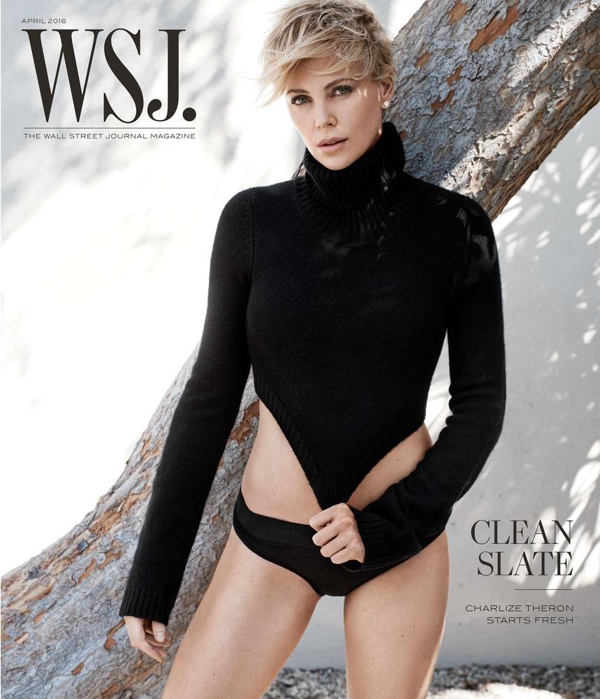 Шарлиз Терон снялась в романтичной фотосессии для WSJ