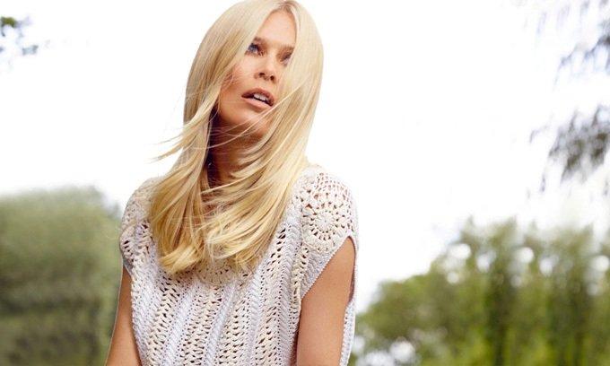Клаудиа Шиффер представила новую коллекцию кашемрового бренда TSE
