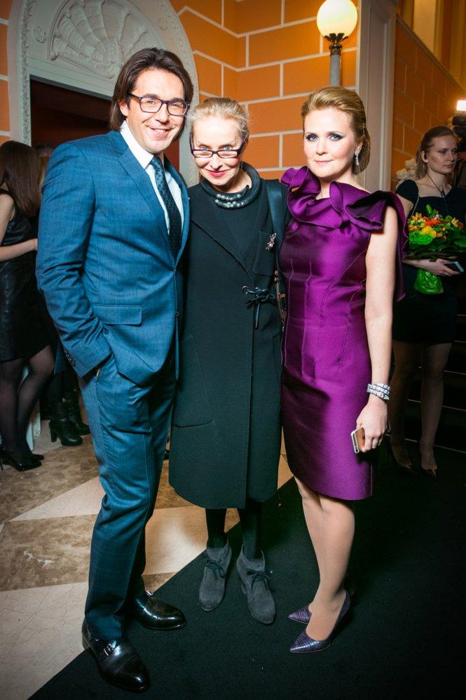 Стильный выход Андрея Малахова и Натальи Шкулевой на вечеринке Elle