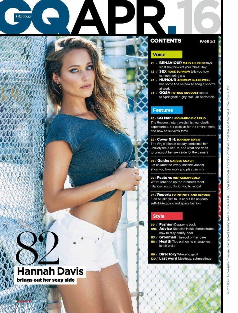 Ханна Дэвис снялась в сексуальной фотосессии для GQMagazine