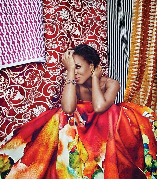 Керри Вашингтон в весеннем фотосетете для Adweek