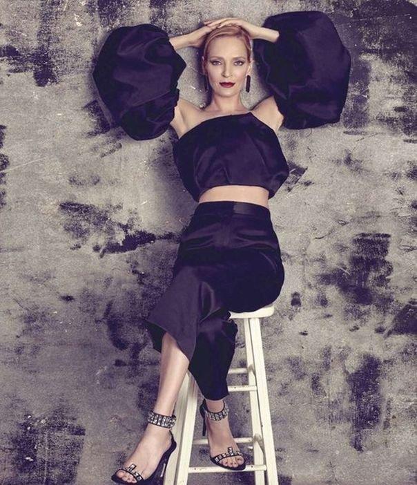 Яркая Ума Турман на страницах Harper's Bazaar