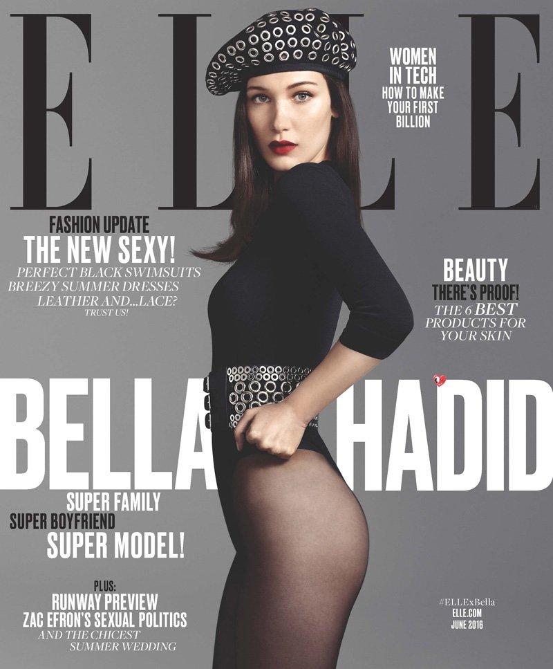 Белла Хадид снялась для обложки ELLE