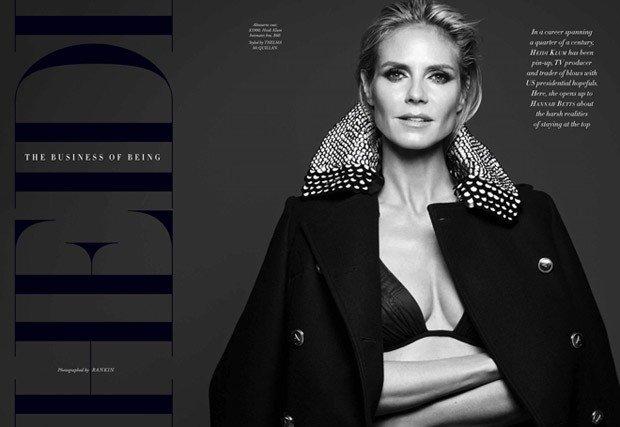 Блистательная Хайди Клум позрирует для Harper's Bazaar