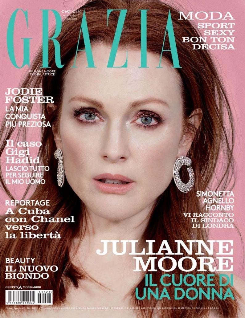 Джулианна Мур в атмосферной фотосессии для Grazia