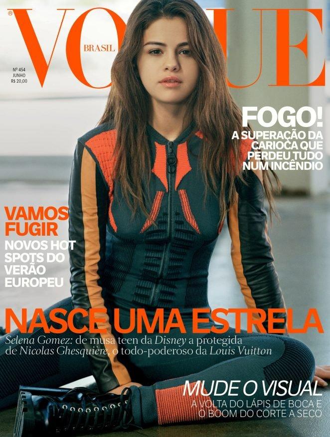 Селена Гомес и Николя Гескьер обнимаются на обложке Vogue
