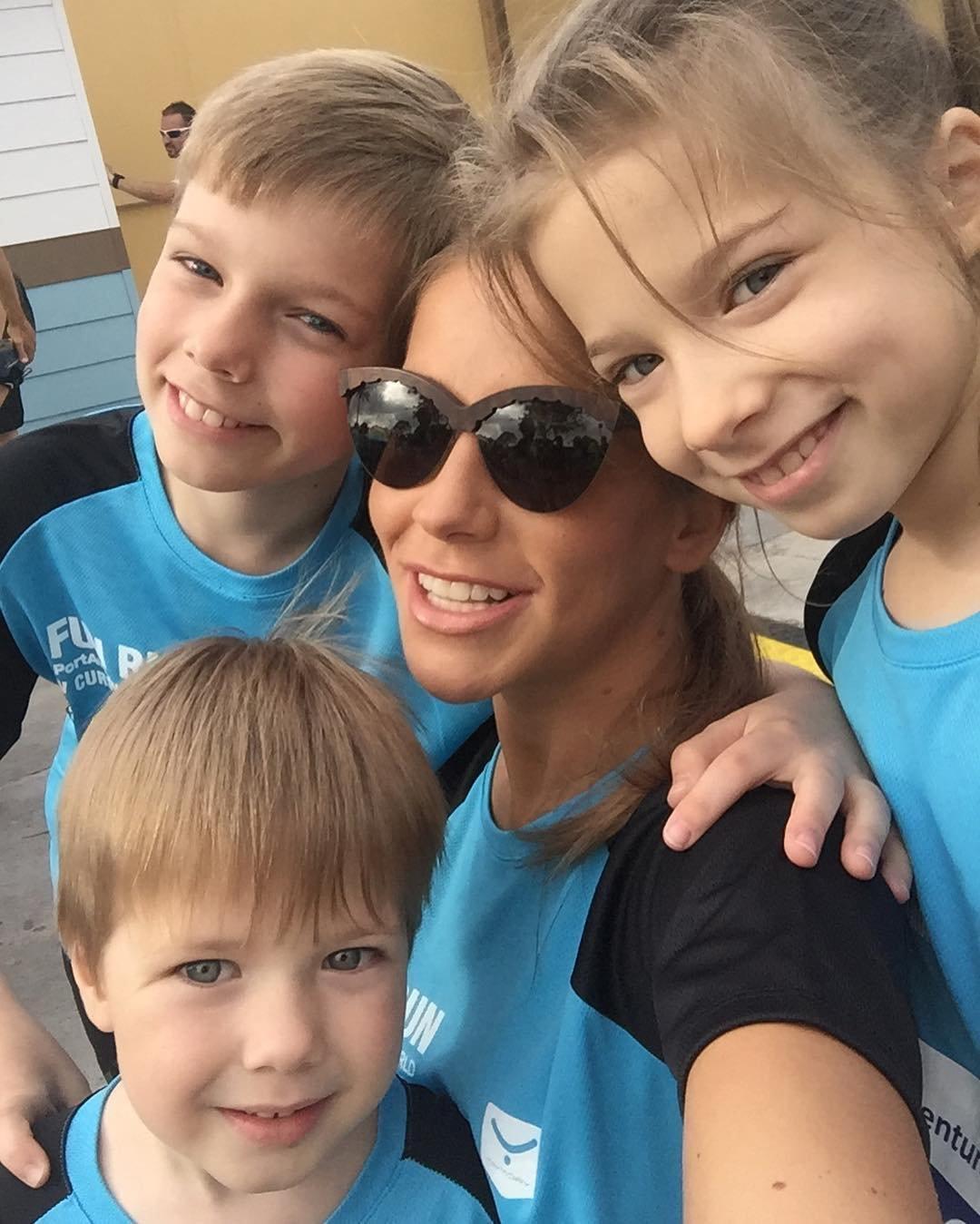 Юлия Барановская с дочкой и сыновьями отметила День Защиты Детей