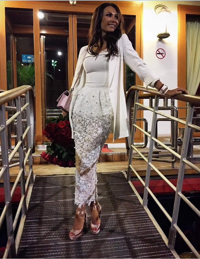 Инна Жиркова ослепила гостей Дня Рождения белым прозрачным платьем