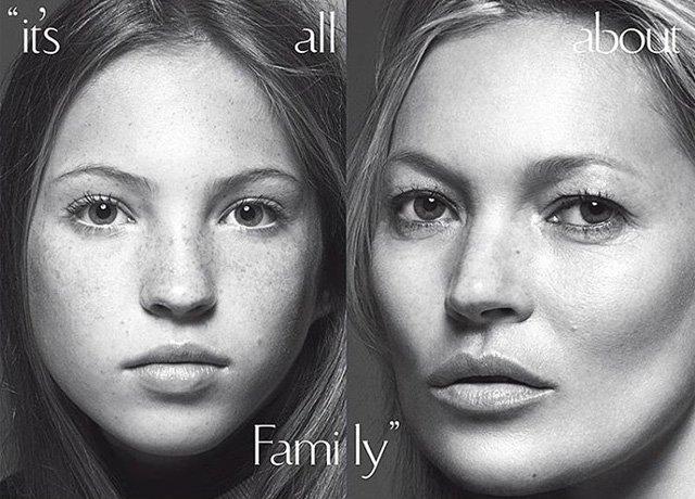 Кейт Мосс со своей дочерью на обложке Vogue