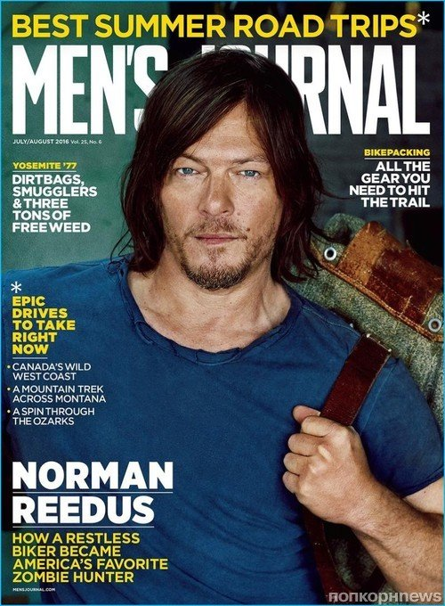 Норман Ридус в брутальной фотосессии для  Men's Journal
