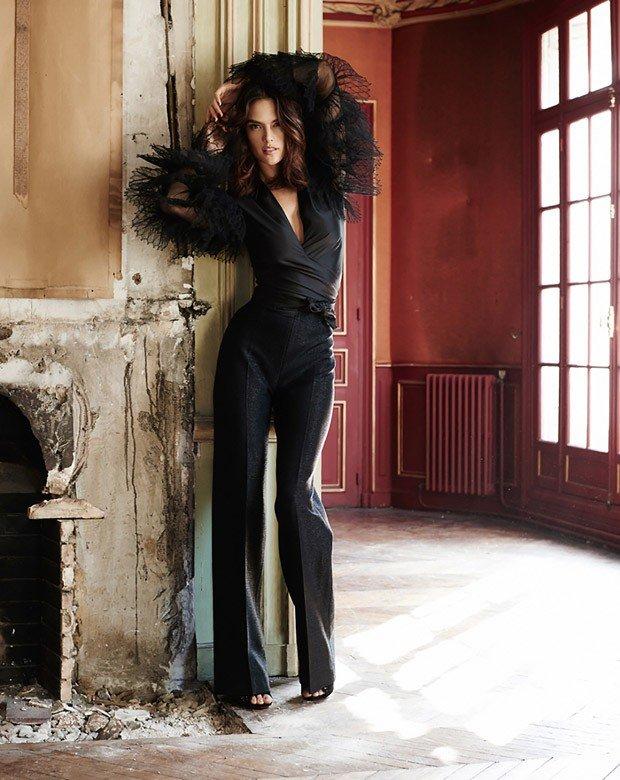 Алессандра Амбросио в романтичной фотосессии для Glamour