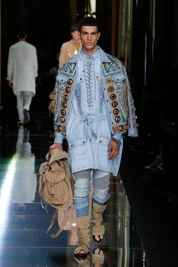 В Париже прошел показ новой мужской коллекции Balmain