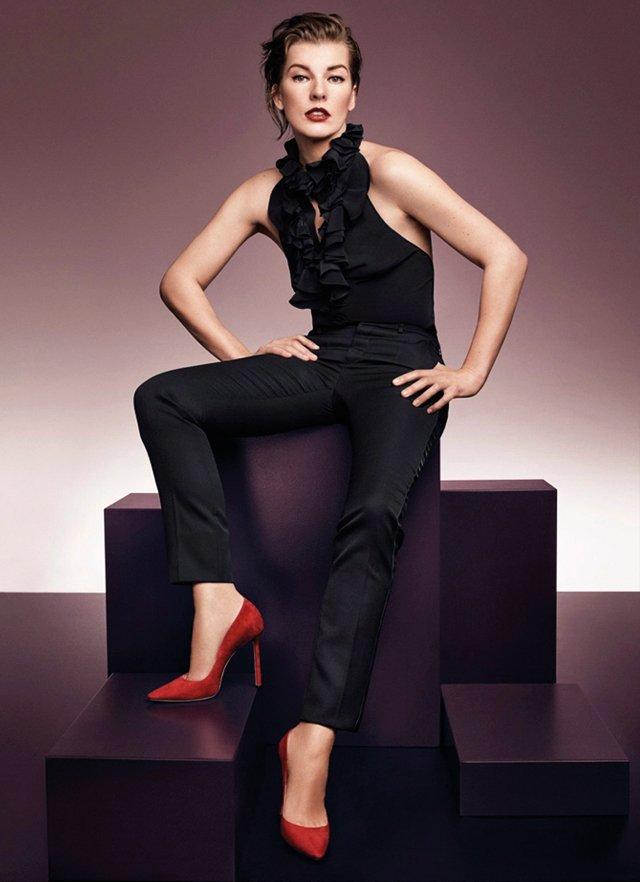 Мила Йовович, Амбер Валетта и Саша Пивоварова представили новую обувную коллекцию  Jimmy Choo