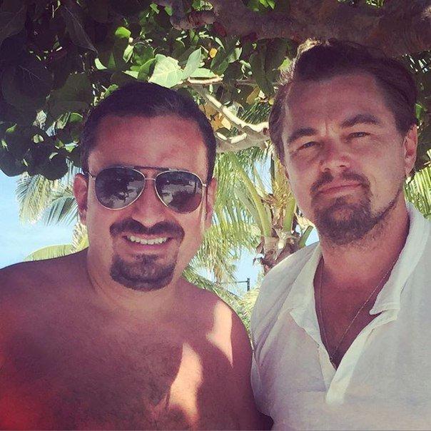 Леонардо Ди Каприо и Нина Агдал проводят отпуск на Багамах