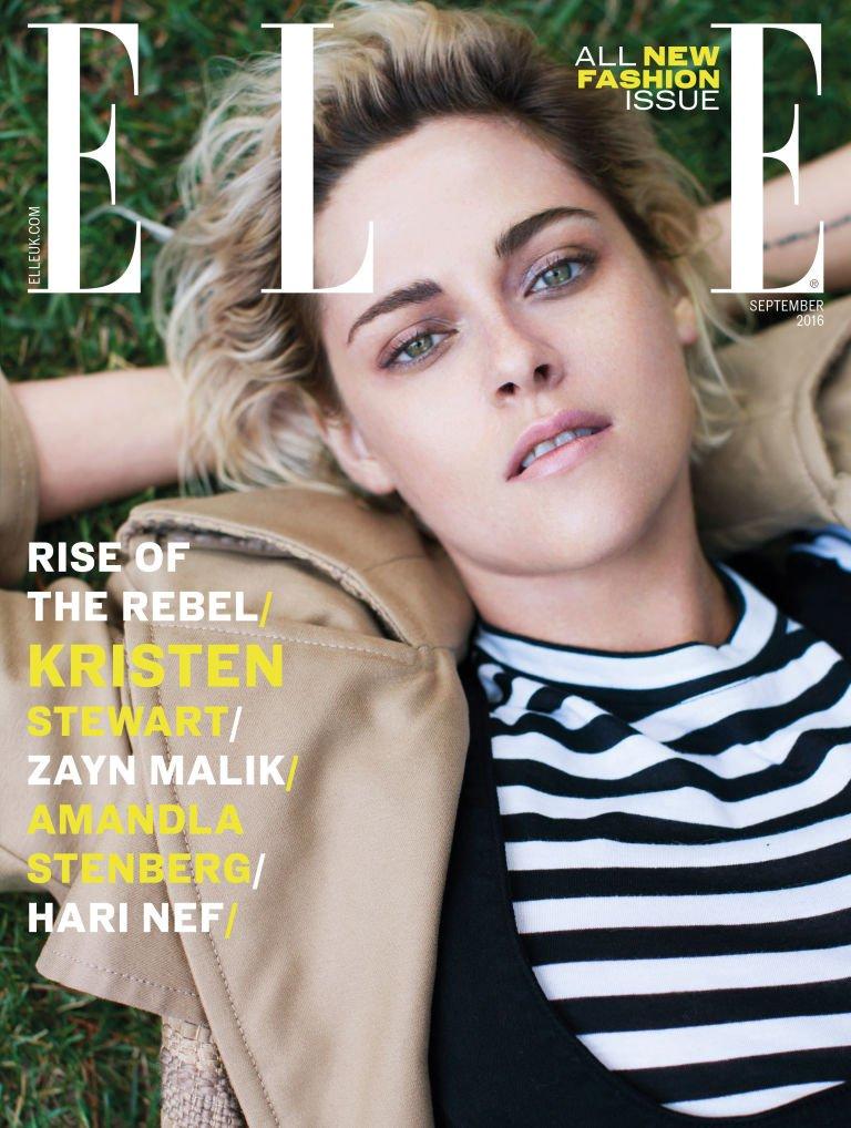 Зейн Малик и Кристен Стюарт на сентябрьских обложках  Elle