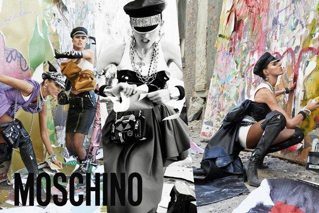 Аня Рубик, Стелла Теннант в новой рекламной кампании Moschino