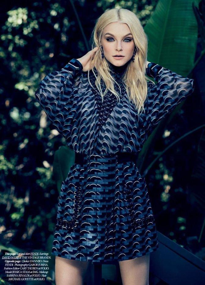 Джессика Стэм украсила обложку Dress to Kill Magazine