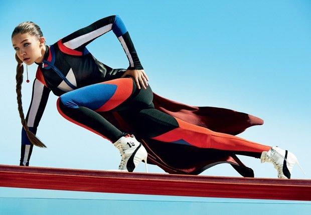 Джиджи Хадид и Эштон Итон вместе позируют для Vogue
