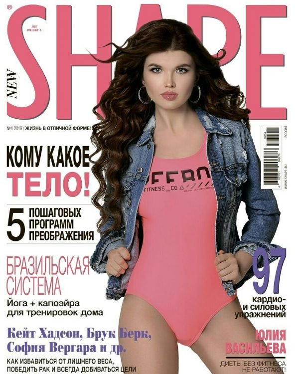 Финалистка Miss Europe World Юлия Васильева украсила обложку NEW SHAPE