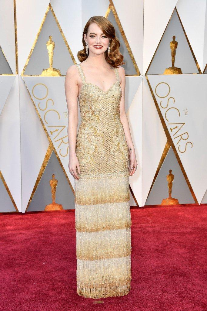 Эмма Стоун на красной дорожке «Оскар-2017»
