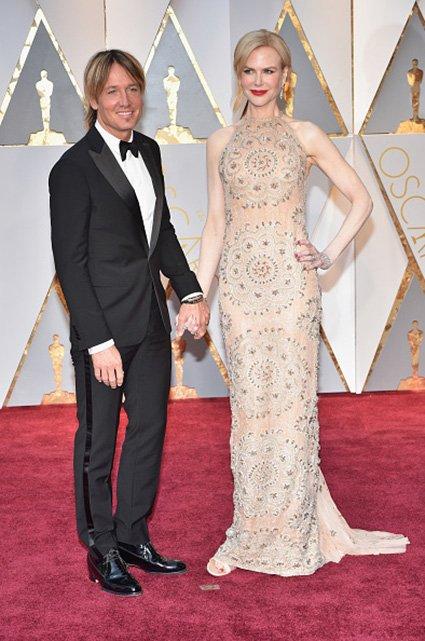 Николь Кидман с супругом на красной дорожке «Оскар-2017»