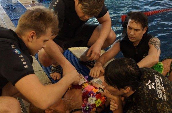 """Во время съемок клипа группы """"На-На"""" чуть не утонула девушка"""