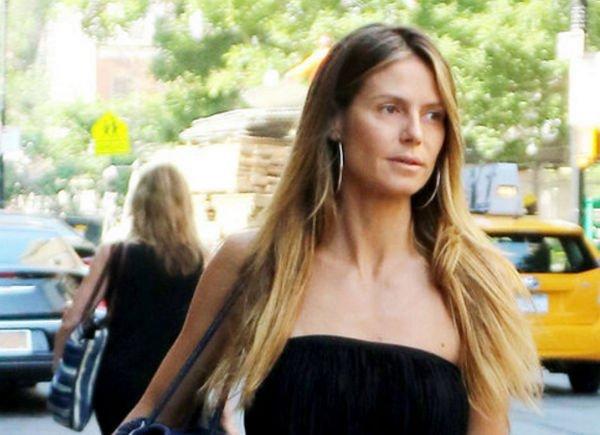 Хайди Клум предстала перед жителями Нью-Йорка без грамма макияжа