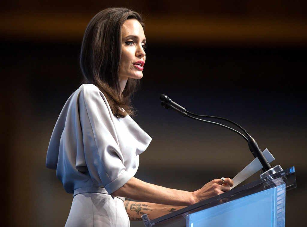 Анджелина Джоли выступила на трибуне ООН в невероятно элегантном образе